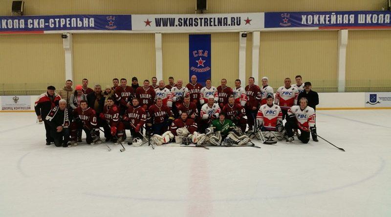 """Hokeja komanda  """"Kalupe"""" piedalījās izbraukuma spēlēs  Sanktpēterburgā"""