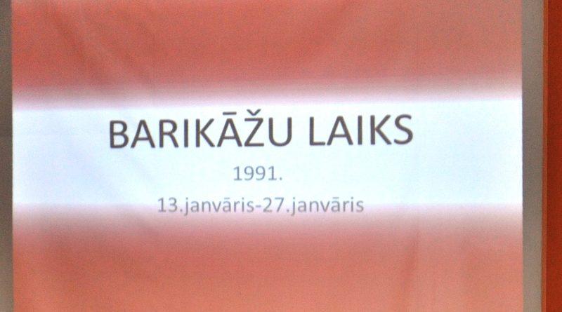 20.janvārī BARIKĀŽU ATCERES DIENA KALUPĒ