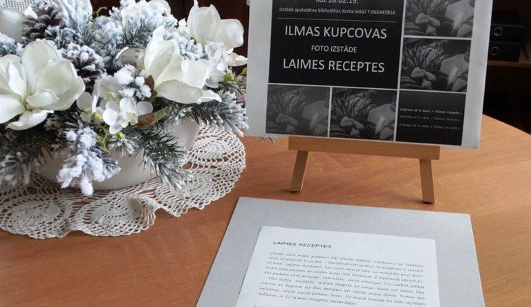 "ILMAS KUPCOVAS FOTOIZSTĀDE ""LAIMES RECEPTES"""